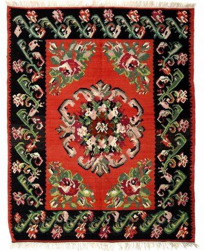 BALKANS HANDWOVEN RUG RED 152x189