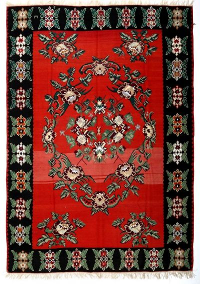BALKANS HANDWOVEN RUG RED 252x345