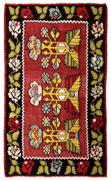 BALKANS HANDWOVEN RUG RED 125x212