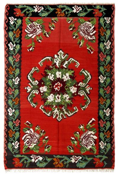 BALKANS HANDWOVEN RUG RED 136x204