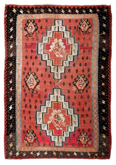BALKANS HANDWOVEN RUG RED 205x287
