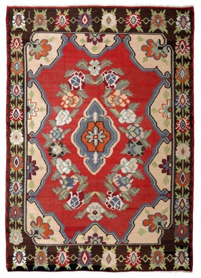 BALKANS HANDWOVEN RUG RED 211x304