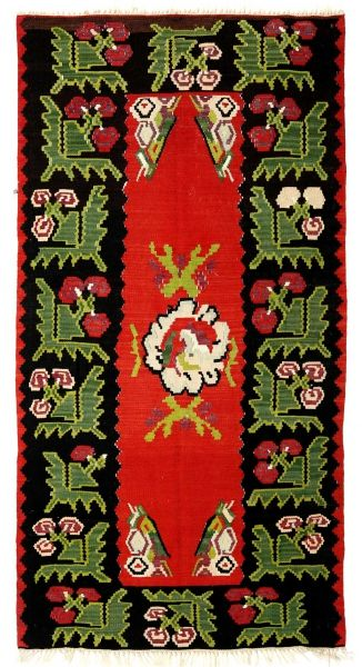 BALKANS HANDWOVEN RUG RED 98x194