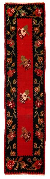 BALKANS HANDWOVEN RUG RED 60x257