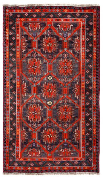 SOUMAK HANDWOVEN RUG RED 177x297