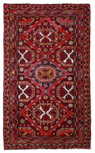SOUMAK HANDWOVEN RUG RED 178x284