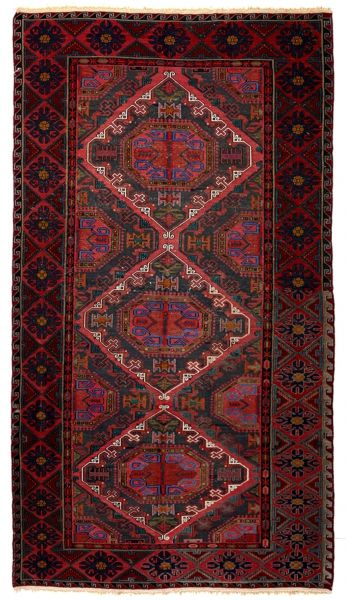 SOUMAK HANDWOVEN RUG RED 186x327