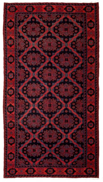 SOUMAK HANDWOVEN RUG RED 193x353