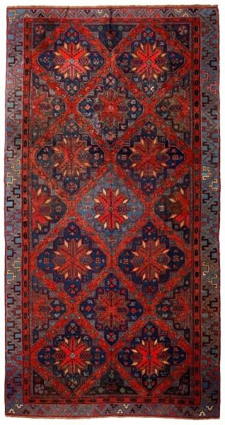 SOUMAK HANDWOVEN RUG RED 196x340