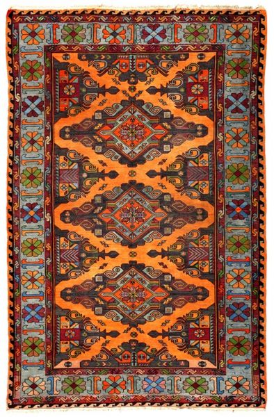 SOUMAK HANDWOVEN RUG RED 197x285