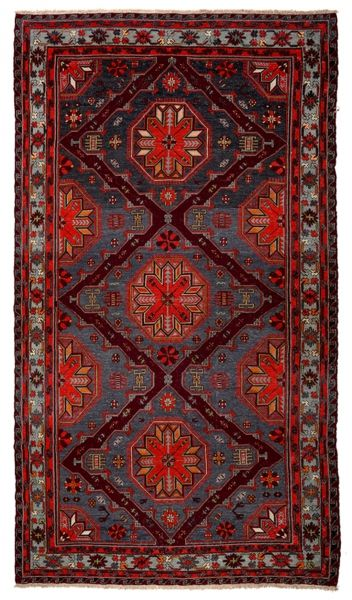 SOUMAK HANDWOVEN RUG RED 198x342