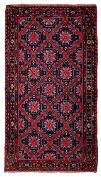 SOUMAK HANDWOVEN RUG RED 198x344