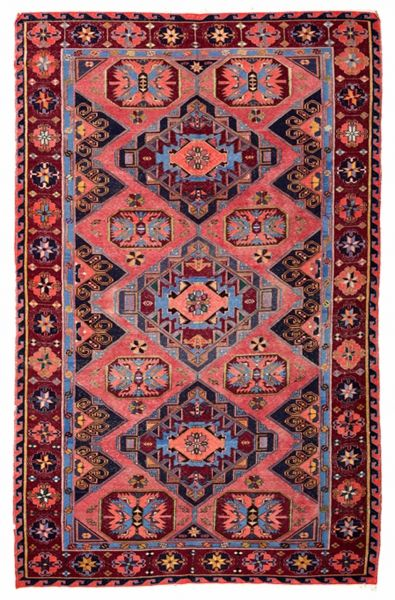 SOUMAK HANDWOVEN RUG RED 212x326