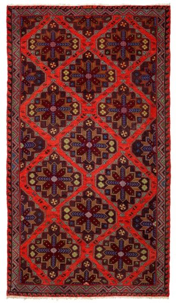SOUMAK HANDWOVEN RUG RED 212x368
