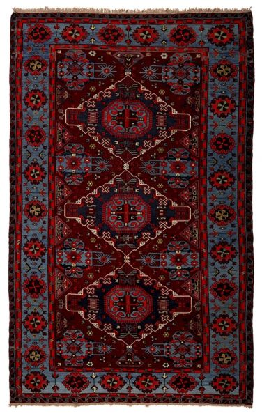 SOUMAK HANDWOVEN RUG RED 216x334