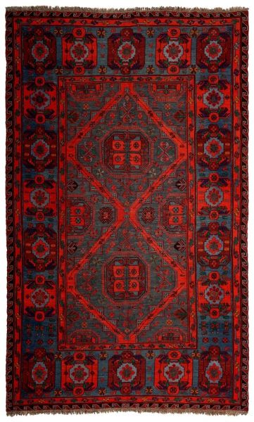 SOUMAK HANDWOVEN RUG RED 216x344