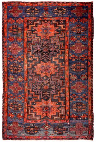 SOUMAK HANDWOVEN RUG RED 220x322