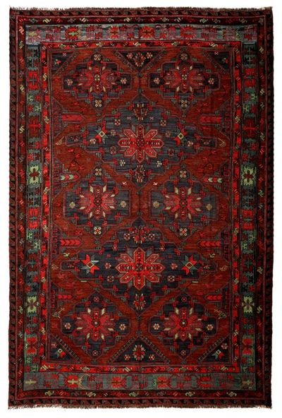 SOUMAK HANDWOVEN RUG RED 234x344